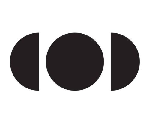 Image: black circle & two half circles on white background