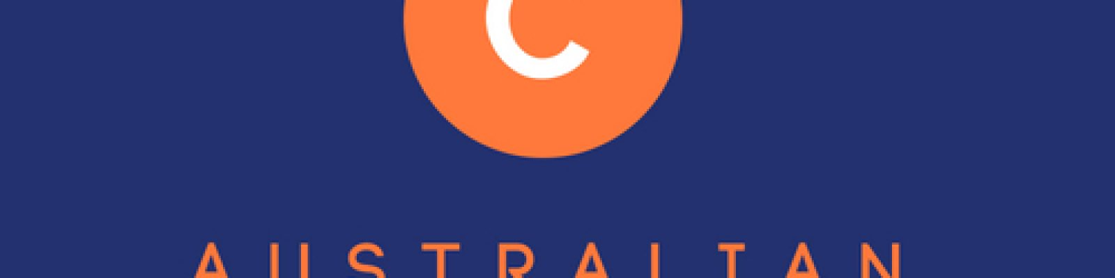 Orange circle on blue background with text Australian Copyright Council