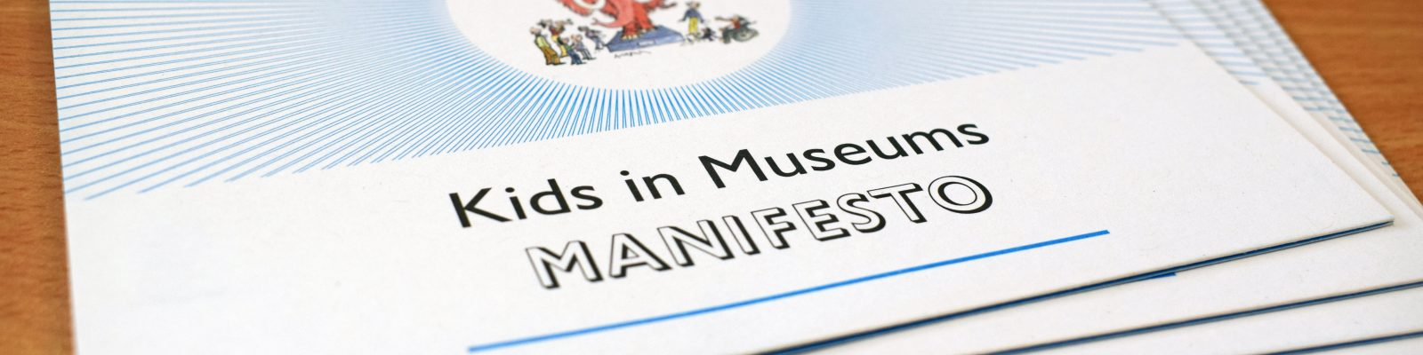 Pile of postcard sized Kids in Museums Manifesto images