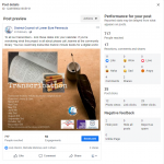 Screenshot of Facebook page